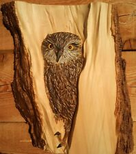 "stl model for CNC Router Machine Artcam Vectric Aspire "" Owl in a Wood """