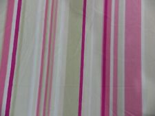 Harlequin Rush Fabric Curtain Remnant off cut Stripe Pink Seaside Shabby Chic 1m
