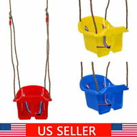 Swing Seat Set Toddler Baby Seat Playground Outdoors Play w/Chain (Low Back)