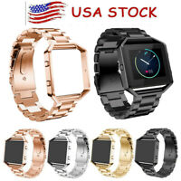 For Fitbit Blaze Watch Bands Adjustable Replacement Stainless Steel Bracelet Men