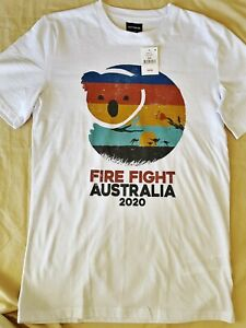 FIREFIGHT AUSTRALIA 2020 CONCERT T-SHIRT XS WHITE COTTON ON (RRP $39.99) - BNWT