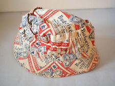 Original True Vintage Budweiser Crusher Bucket Hat / All over Box Logo