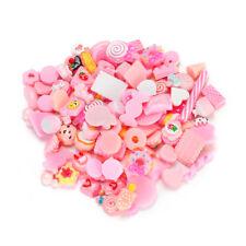 10pcs/Set Simulation Resin Food Candy Cake Pink Series DIY Charm Phone Accessory