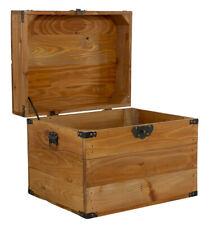 Kleine Holzkiste mit Deckel im schönen Braunton  Truhe Holztruhe