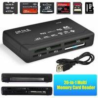 For XD Mini SD SDHC MMC TF Micro SD CF 26-IN-1 USB 2.0 Multi Memory Card Reader