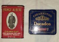 Lot of 2 Vintage Empty Cigarette/Tobacco Tins Prince Albert & Ducados