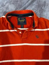 RUGBY Abercrombie & Fitch Polo Shirt Mens L Large MUSCLE Long Sleeve Rare SLIM
