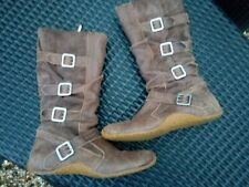 Distressed Brown KICKERS Buckle Boots Size 6
