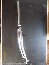 """1x neuve 28""""randonnée fourche rigide 1x1/8 pouces Chromé,280mm arbre, A-HEAD"""