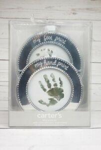 Carter's Baby Hand & Foot Print Kit Silver Nontoxic Stamp Pad Keepsake Gift New
