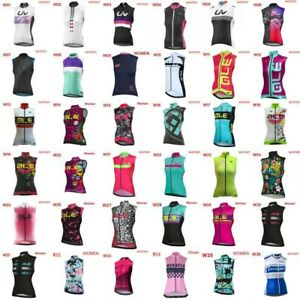 2019 Women cycling sleeveless jersey Racing Vest summer bicycle shirts gilet E15