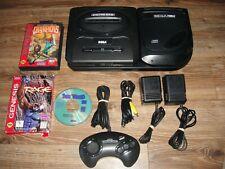 Sega CD + Genesis Console Model 2 Lot 1 Controller and 3 Games Dark Wizard