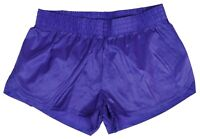 Purple Shiny Short Nylon Shorts by Soffe - Size Medium