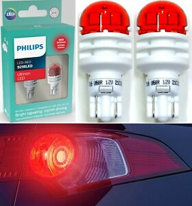Philips Ultinon LED Light 921 Red Two Bulbs High Stop Brake Tail Replace Lamp OE