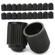 UNIVERSAL 5 PACK BLACK PLACTIC ALLOY WHEEL TYRE CAR BIKE CYCLE DUST VALVE CAPS