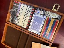 Backgammon + Chess + Cribbage + dominoes + checkers Travel / portable Games set