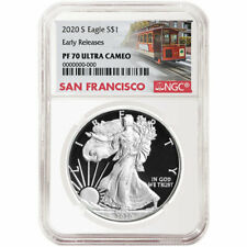 Presale - 2020-S Proof $1 American Silver Eagle NGC PF70UC Trolley ER Label