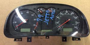 99 1999 Volkswagen Jetta Golf AT Speedometer Head Instrument Cluster (MPH)