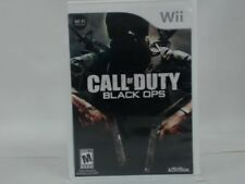CALL OF DUTY BLACK OPS Wii Complete CIB w/ Box, Manual Good