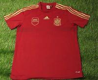SPAIN NATIONAL TEAM 2013-2014 FOOTBALL SHIRT JERSEY TRAINING ADIDAS ORIGINAL