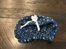 """Used Handmade 18"""" Doll Blue Hat with Bow"""