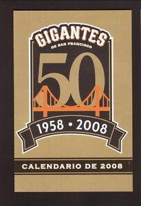 San Francisco Giants--2008 Spanish Pocket Schedule--KLOK