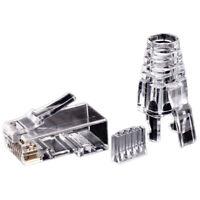 50 PièCes SéRies Cat6 RJ45 Connecteur UTP CâBle Ethernet Jack 8P8C RéSeau CAT B4