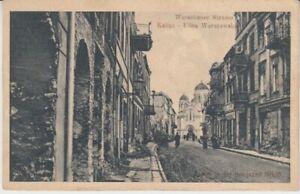 Ansichtskarte  Polen  Kalisz - Kalisch  Warschauer Straße    1915