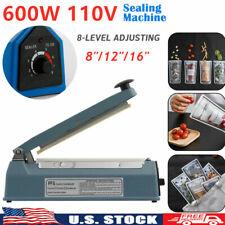 12 Impulse Sealer Manual Heat Sealing Machine Poly Tubing Plastic Bag Shrink