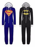 Unisex Womens Mens Super Hero Playsuit Ladies All In One Piece Jumpsuit Pajamas