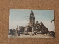 Town Hall Leeds Tinted Card unposted with message .