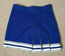Real Authentic Genuine High School Cheer Cheerleading Skirt Blue White Silver