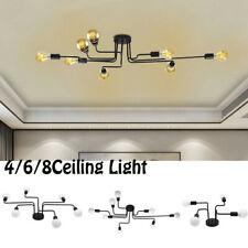 Industrial Ceiling Light Steampunk Semi Flush Mount Chandelier Fixture