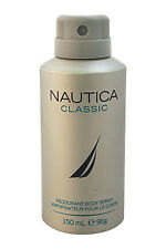 Nautica Deodorant Body Spray for Men Classic 5 Oz