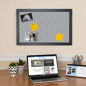 ArtToFrames Custom Cork Bulletin Board Chain Link Framed in Satin Black