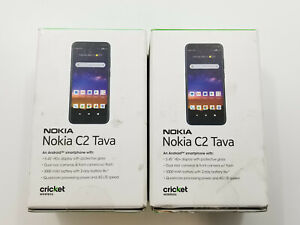 Nokia C2 Tava TA-1218 Blue Cricket 32GB Clean IMEI Lot of 2 -BT7713 W