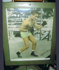 RARE FRAMED 1930's Champion CEFERINO GARCIA large format photo poster