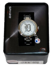 Detroit Tigers Charm Watch with Stainless Steel Band