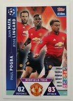 2019 Match Attax UEFA Soccer Card - Manchester Utd Trio Pogba Mata Lingard #128