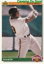 062 STEVE HOSEY TP SAN FRANCISCO GIANTS BASEBALL CARD UPPER DECK 1992
