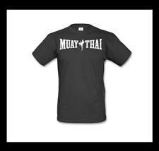Muay Thai camisa talla L negro blanco kickboxing MMA boxeo Fighting Fitness