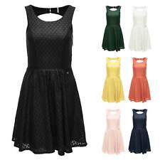 Only Damen Sommerkleid Spitzen Kleid Cocktailkleid Partykleid Skater Dress SALE