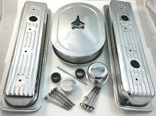 SB Chevy SBC Chrome Steel Center Bolt Engine Dress Up Kit 87-95 305-350 5.0 5.7