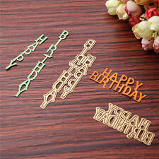Happy Birthday Cutting Dies Stencil DIY Scrapbooking Karte Stanzschablone ZZnn