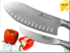 "Japanese Steel 4in1 Multi-design Santoku Chef Knife 6.9"" New Cookware Cutlery"