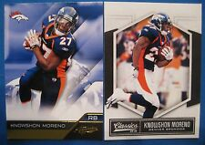 KNOWSHON MORENO 2 CARD LOT-2010 CLASSICS #30 & 2011 ABSOLUTE #33 DENVER BRONCOS