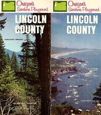 Lincoln County Seashore Playground Oregon Vintage Brochure Color Photos Map