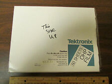 Tektronix Overhead Projection Projector Film 016-0895-00 37 Sheets NOS