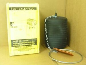 """193293 New In Box, Cherne 270-067 Test-Ball Plug, 6""""(150mm)"""