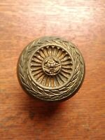 "Antique Fancy Ornate Victorian Brass Radial Doorknob ""Stanwich"" Lockwood c1900"